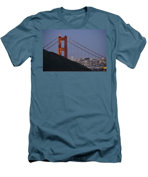 Golden Gate Bridge At Dusk Men's T-Shirt (Athletic Fit)