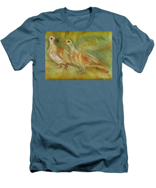 Golden Pigeons Men's T-Shirt (Athletic Fit)