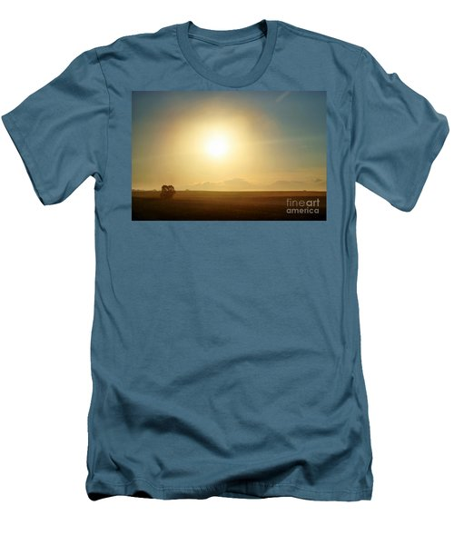 Men's T-Shirt (Slim Fit) featuring the photograph Golden Sunset by Judy Palkimas