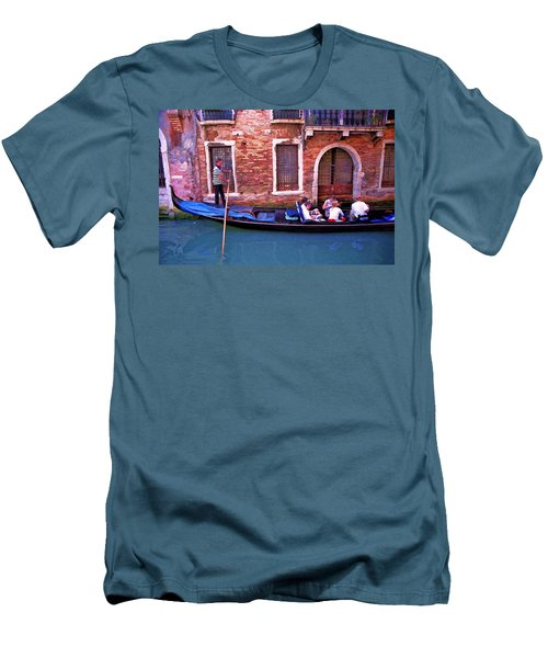 Men's T-Shirt (Slim Fit) featuring the photograph Gondola 4 by Allen Beatty