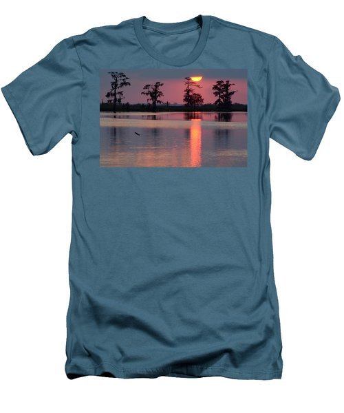 Men's T-Shirt (Slim Fit) featuring the photograph Gone Fishin by Charlotte Schafer