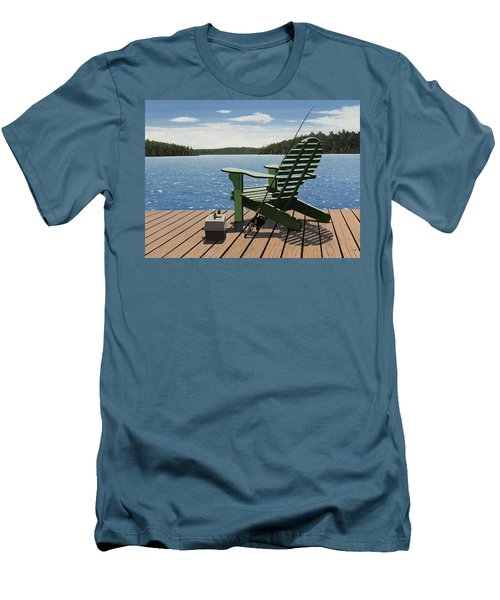 Gone Fishing Men's T-Shirt (Slim Fit) by Kenneth M  Kirsch