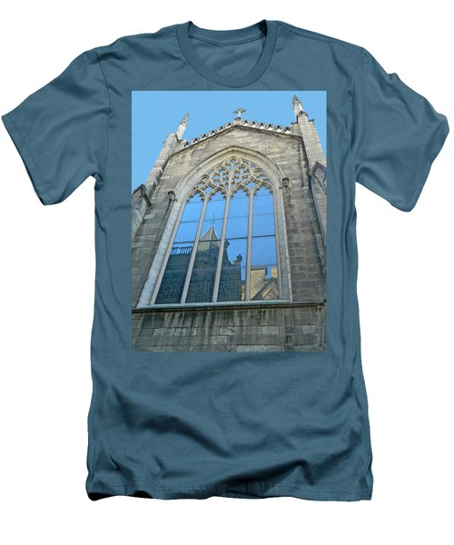 Men's T-Shirt (Slim Fit) featuring the photograph Grace Episcopal Church Nyc by Emmy Marie Vickers