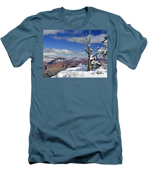 Grand Canyon Winter -2 Men's T-Shirt (Athletic Fit)