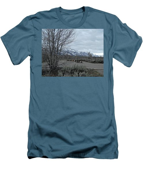 Grand Tetons Landscape Men's T-Shirt (Athletic Fit)