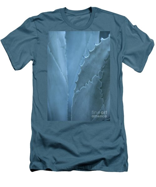 Gray-blue Patterns Men's T-Shirt (Athletic Fit)