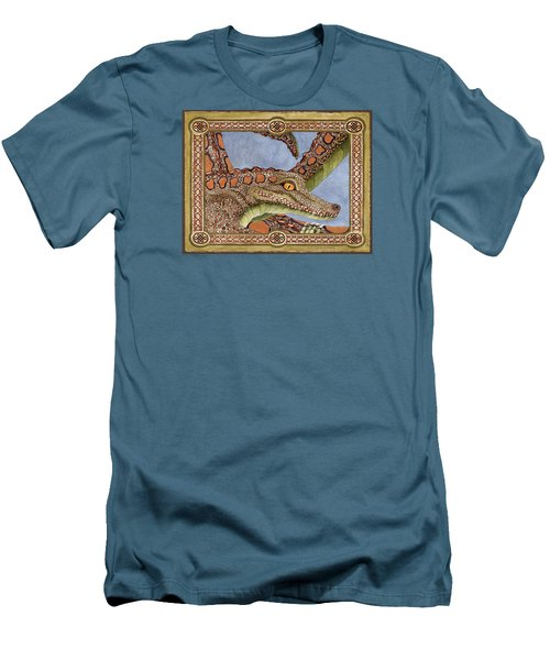 Great Grandmother Combped Men's T-Shirt (Slim Fit) by Lynda Hoffman-Snodgrass