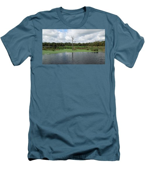 Men's T-Shirt (Slim Fit) featuring the photograph Green Cay Panorama by Ron Davidson