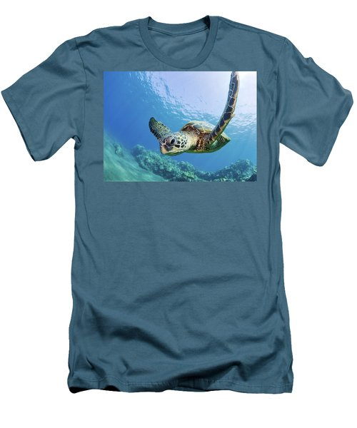 Green Sea Turtle - Maui Men's T-Shirt (Slim Fit) by M Swiet Productions