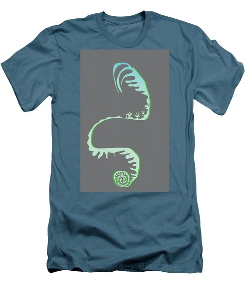 Green Spiral Evolution Men's T-Shirt (Athletic Fit)