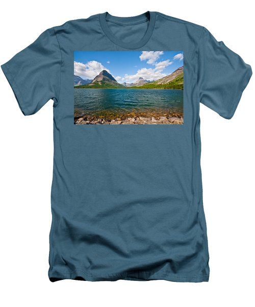 Grinnell Point From Swiftcurrent Lake Men's T-Shirt (Athletic Fit)