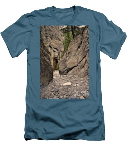 Grotto Canyon Fractal Men's T-Shirt (Athletic Fit)