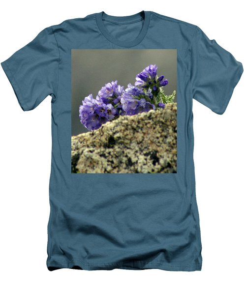 Men's T-Shirt (Slim Fit) featuring the photograph Growing In Granite by Jeremy Rhoades