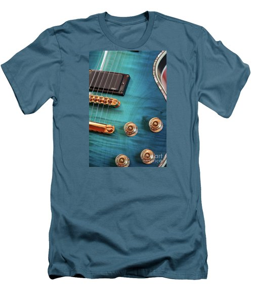 Guitar Blues Men's T-Shirt (Athletic Fit)