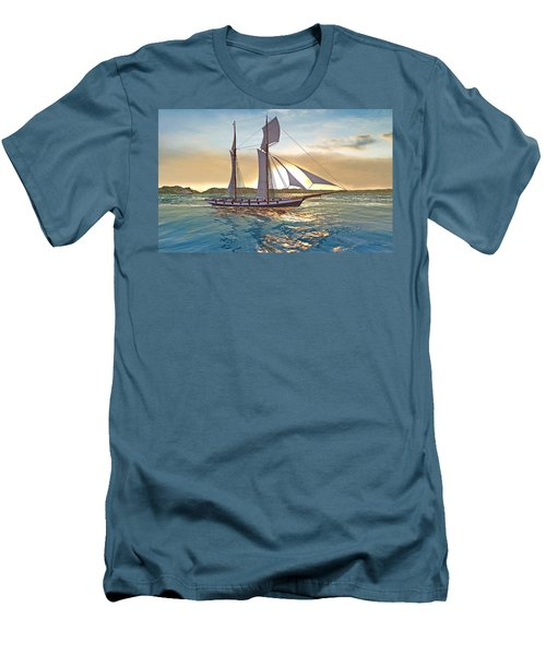 Gulf Of Mexico Area In The World Playground Scenery Project  Men's T-Shirt (Athletic Fit)