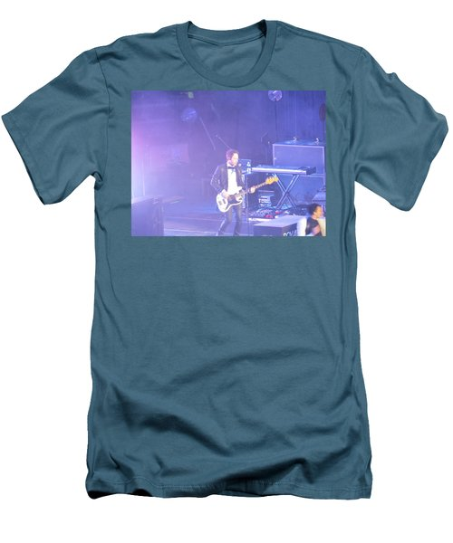 Men's T-Shirt (Slim Fit) featuring the photograph Gutair Player For Royal Taylor by Aaron Martens