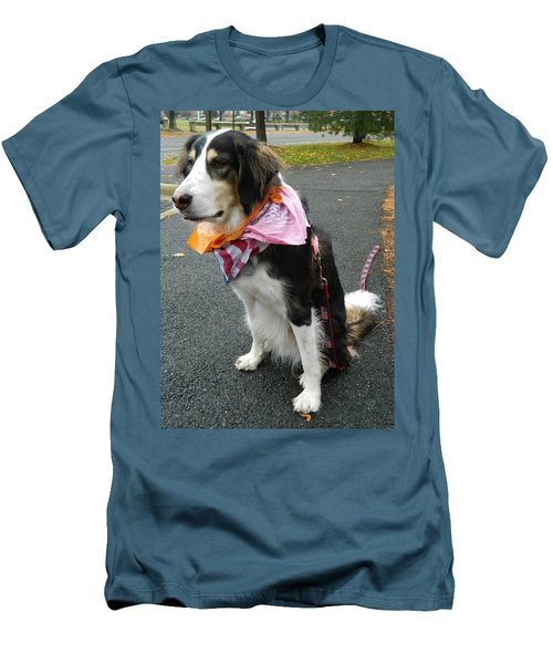 Men's T-Shirt (Slim Fit) featuring the photograph Haley The Wonder Dog by Emmy Marie Vickers