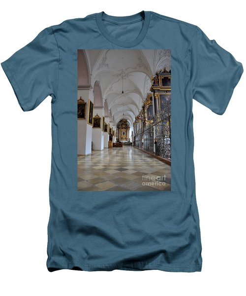 Men's T-Shirt (Slim Fit) featuring the photograph Hallway Of A Church Munich Germany by Imran Ahmed