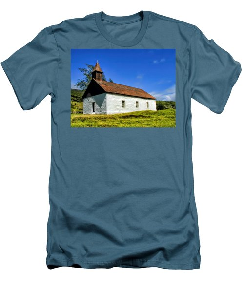 Men's T-Shirt (Slim Fit) featuring the photograph Hana Church 1 by Dawn Eshelman