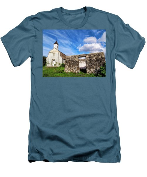Men's T-Shirt (Slim Fit) featuring the photograph Hana Church 8 by Dawn Eshelman