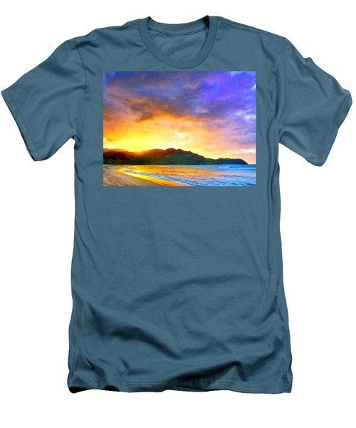 Hanalei Sunset Men's T-Shirt (Athletic Fit)