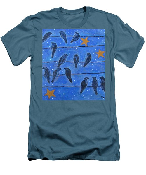 Hanging Out At Night Men's T-Shirt (Slim Fit) by Suzanne Theis