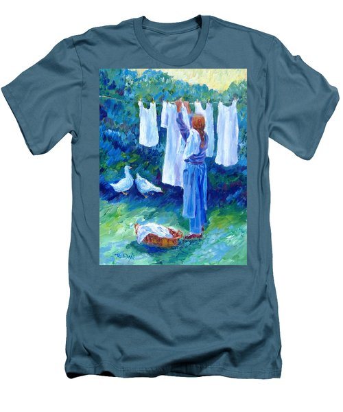 Hanging The Whites  Men's T-Shirt (Slim Fit) by Trudi Doyle