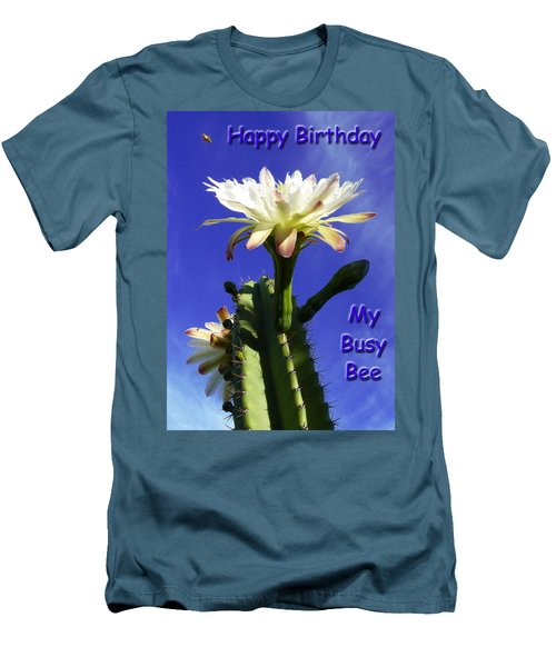 Men's T-Shirt (Slim Fit) featuring the photograph Happy Birthday Card And Print 13 by Mariusz Kula