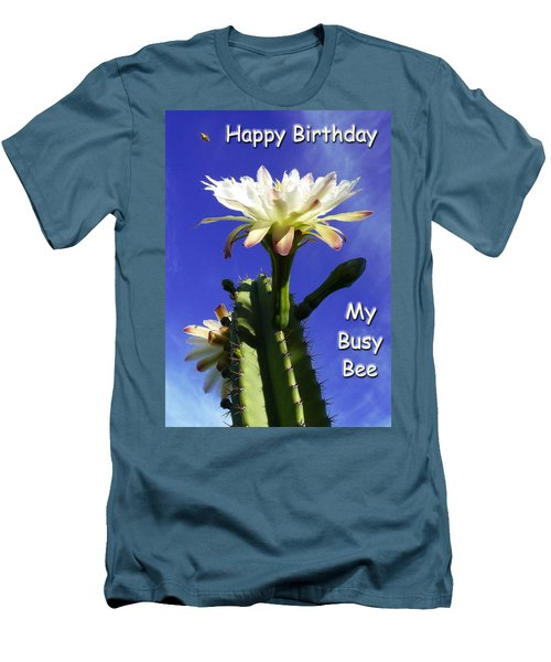 Men's T-Shirt (Slim Fit) featuring the photograph Happy Birthday Card And Print 14 by Mariusz Kula