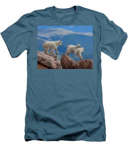 Happy Landing Men's T-Shirt (Slim Fit) by Jim Garrison