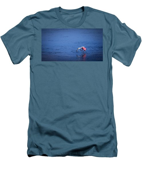 Happy Spoonbill Men's T-Shirt (Slim Fit) by Marvin Spates