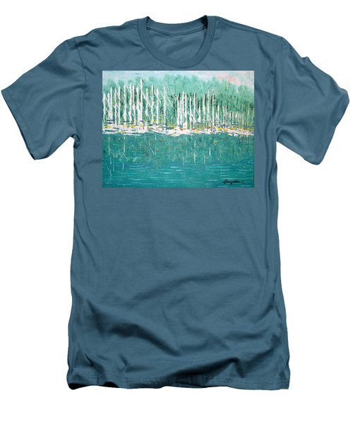 Harbor Shores Men's T-Shirt (Slim Fit) by George Riney