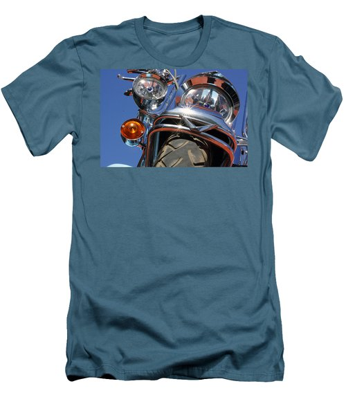Men's T-Shirt (Slim Fit) featuring the photograph Harley Close Up by Shoal Hollingsworth