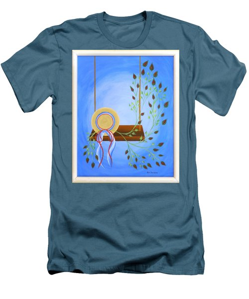 Hat On A Swing Men's T-Shirt (Slim Fit) by Ron Davidson