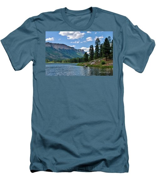 Men's T-Shirt (Slim Fit) featuring the photograph Haviland Lake by Janice Rae Pariza