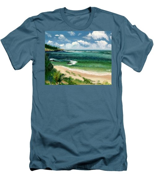 Men's T-Shirt (Slim Fit) featuring the painting Hawaii Beach by Jamie Frier
