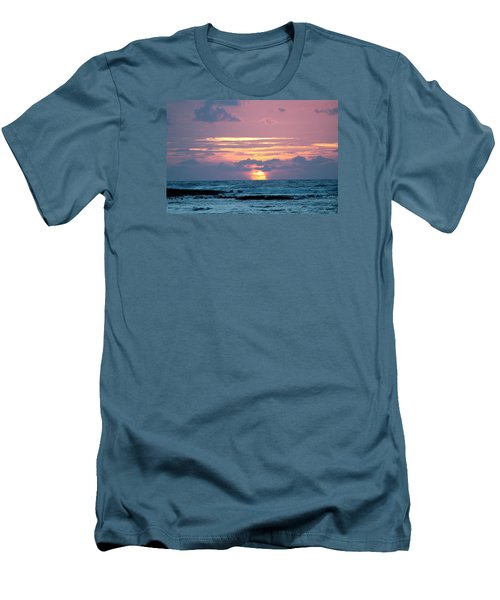 Men's T-Shirt (Slim Fit) featuring the photograph Hawaiian Ocean Sunrise by Lehua Pekelo-Stearns
