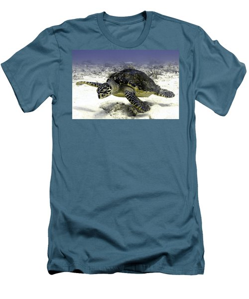 Hawksbill Caribbean Sea Turtle Men's T-Shirt (Athletic Fit)