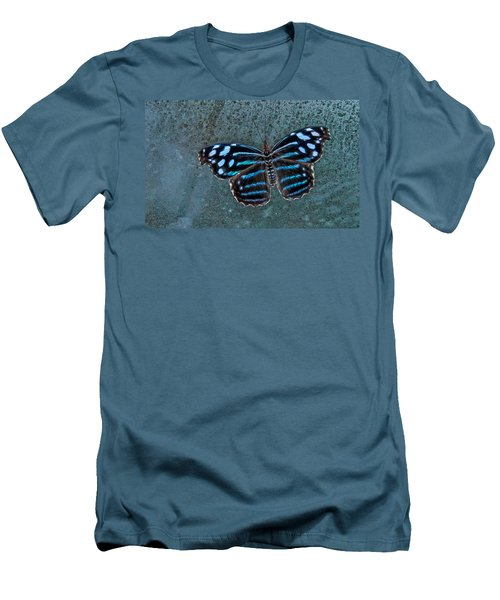 Hdr Butterfly Men's T-Shirt (Slim Fit) by Elaine Malott