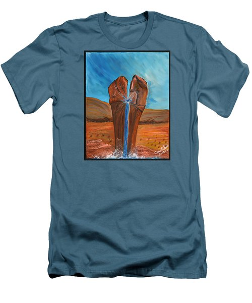 Men's T-Shirt (Slim Fit) featuring the painting He Is The Rock  by Cassie Sears