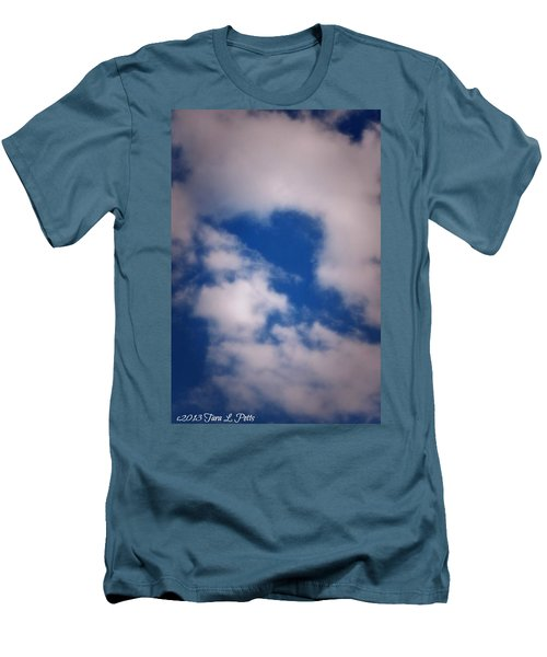 Men's T-Shirt (Slim Fit) featuring the photograph Heart In The Clouds by Tara Potts