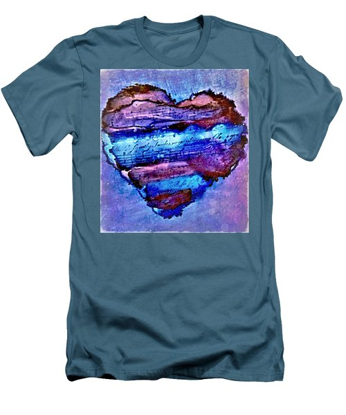 Heart Love Music Alcohol Inks  Men's T-Shirt (Athletic Fit)