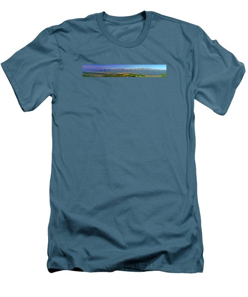 Heart Of The Sawatch Panoramic Men's T-Shirt (Slim Fit) by Jeremy Rhoades