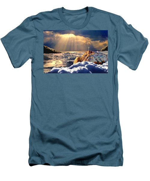 Heavenly Ascension Men's T-Shirt (Slim Fit) by Ron Chambers