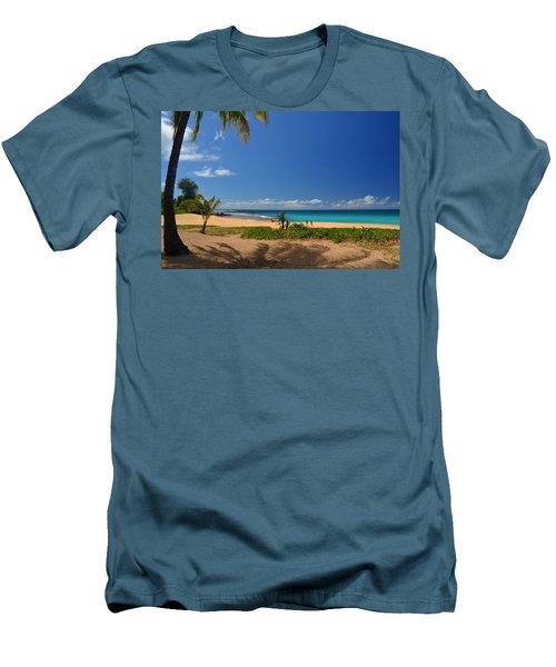 Heavenly Haena Beach Men's T-Shirt (Slim Fit) by Marie Hicks