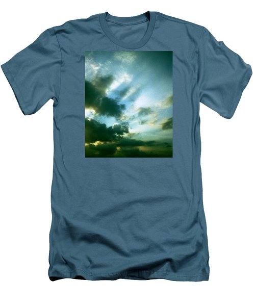 Golden Heavenly Rays Men's T-Shirt (Athletic Fit)