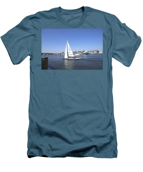 Men's T-Shirt (Slim Fit) featuring the photograph Heeling by Charles Kraus