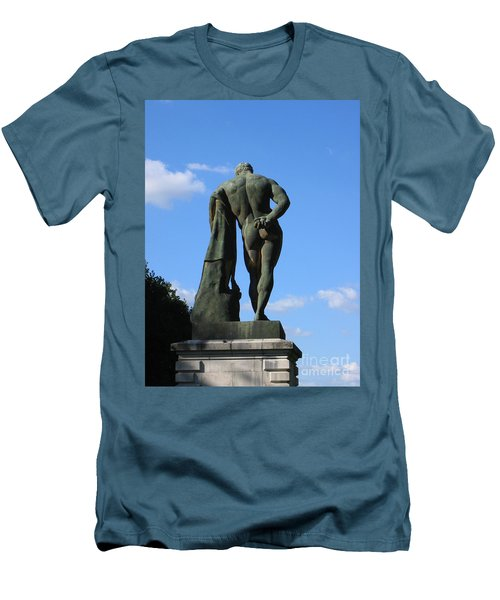 Hercules  Men's T-Shirt (Slim Fit) by HEVi FineArt