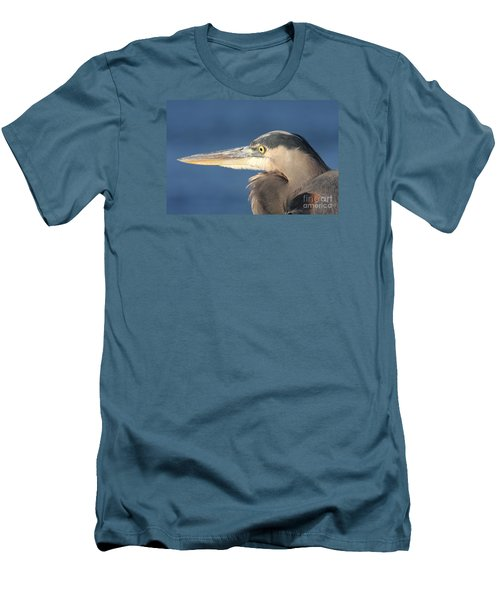 Men's T-Shirt (Slim Fit) featuring the photograph Heron Close-up by Christiane Schulze Art And Photography