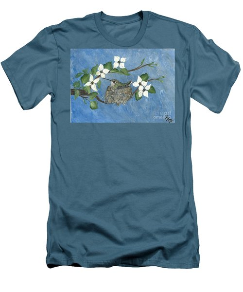 Men's T-Shirt (Slim Fit) featuring the painting Hidden Jewel by Ella Kaye Dickey
